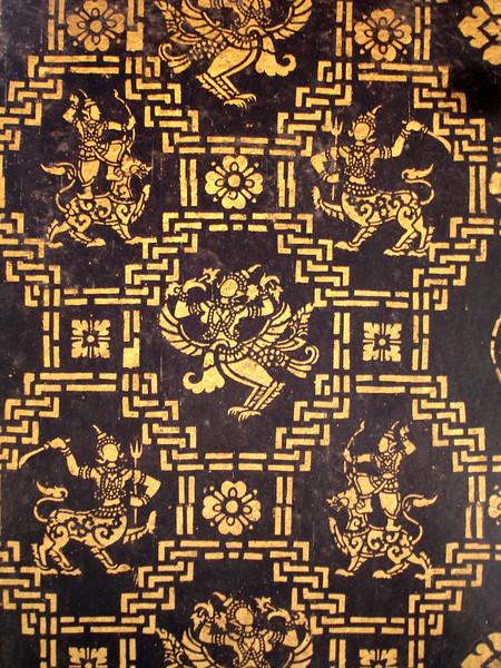 stencil in a monastery temple, Luang Prabang, Laos