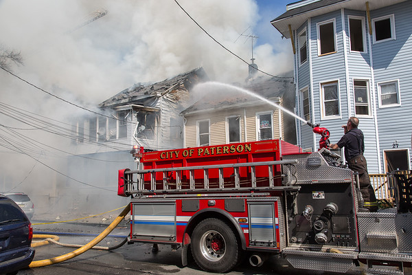 Paterson NJ 4th alarm, 23, 21 & 25 Rose St. 04-14-17