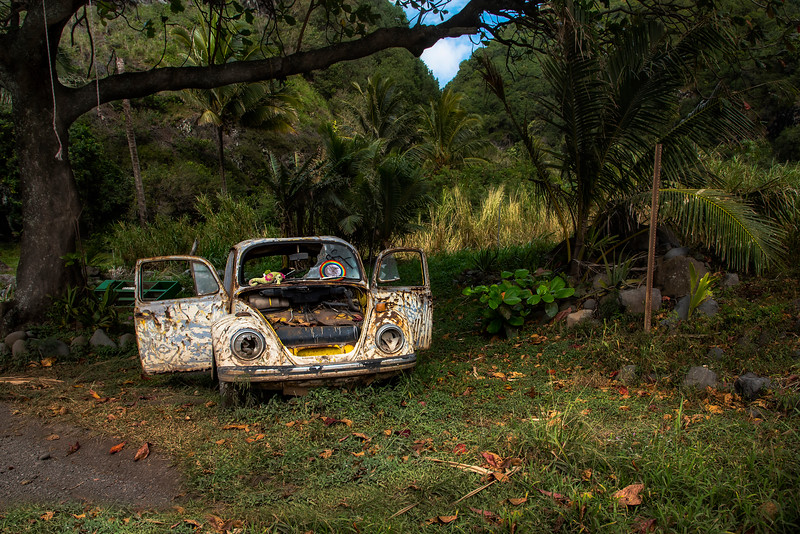 Abandoned Volkswagen Beetle, Maui, Hawaii