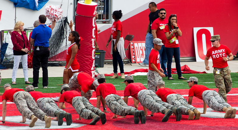And the ROTC does its celebratory pushups.