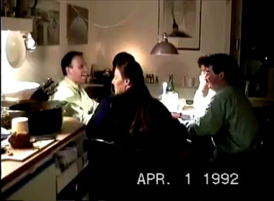 1992 dinner with didi+dimi+sabine+ute