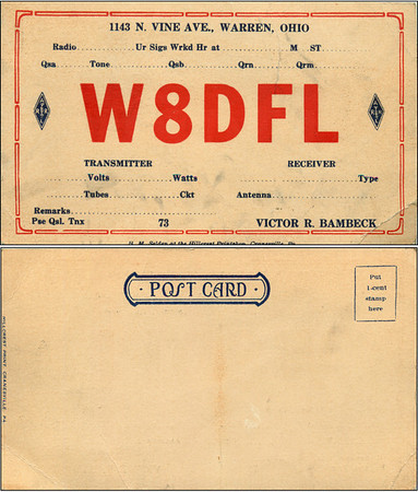 Victor Bambeck QSL - W8DFL