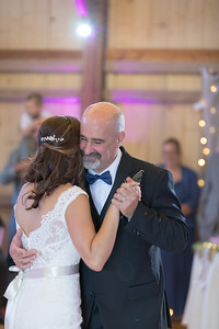 Reception Father Daughter Dance- Christen & Jacob Manuele New England Rustic Wedding Photography- Westfield MA The Ranch Golf Club, St. Mary's Catholic Church- Bridal Photo Studio