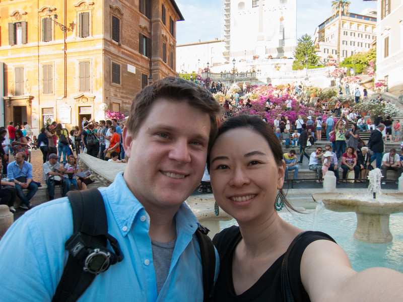 Hanging out at the Spanish Steps.