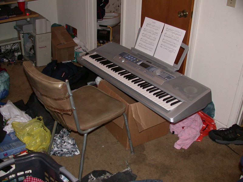 my keyboard stand used to be my laundry basket