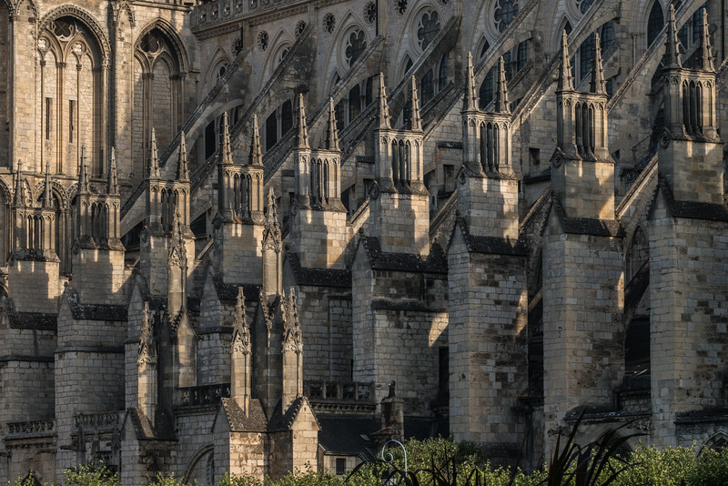Bourges, Saint Stephen Cathedral South Flank Buttresses