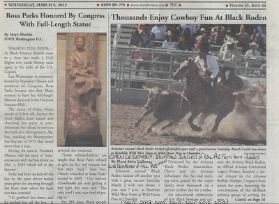 March 2, 2013   Arizona Black Rodeo, Rawhide. OPEN CEREMONY: Post Colors. Years: 2008 through present. March 2, 2013