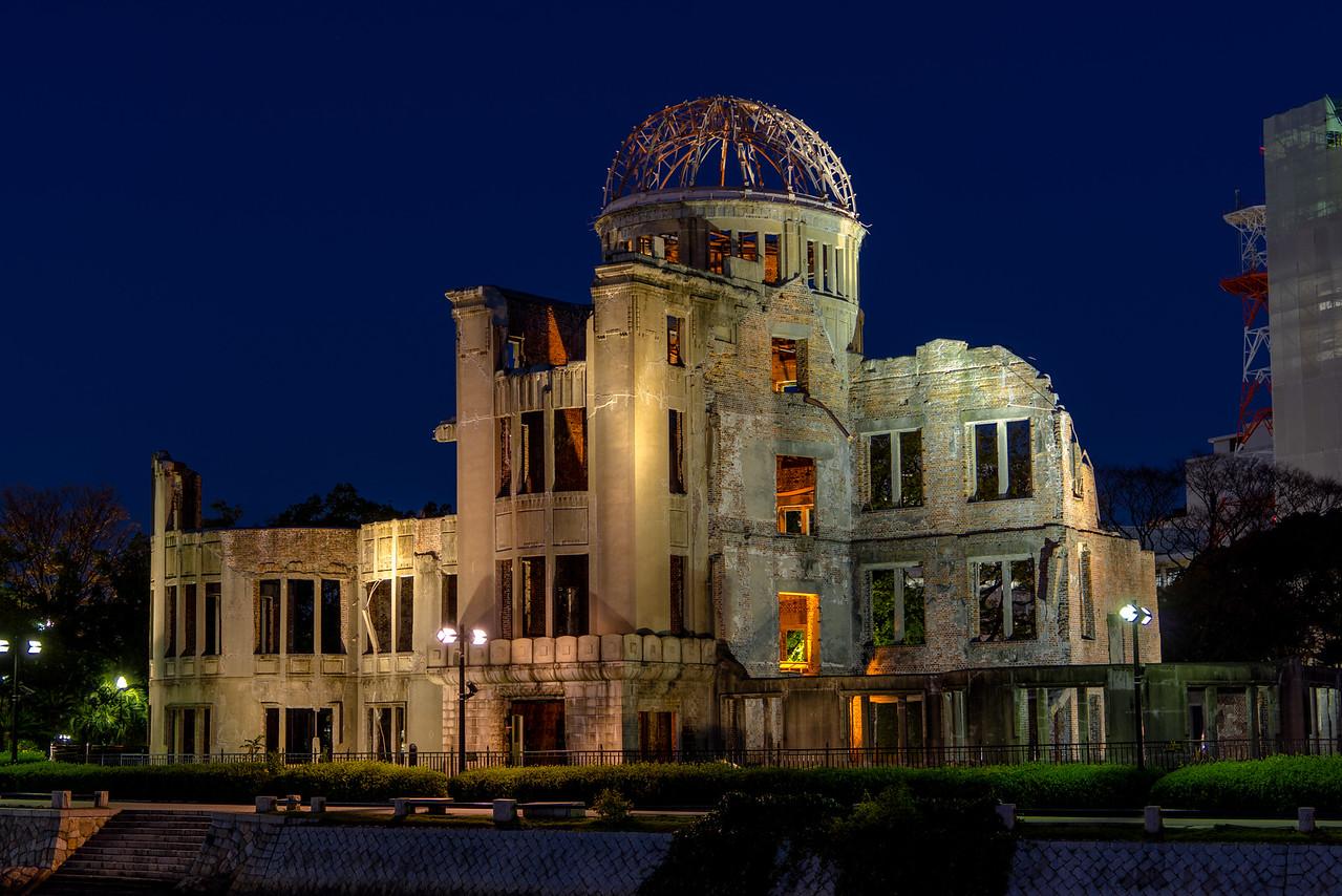 a bomb dome night