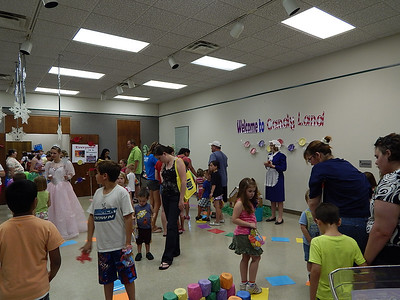 Life Size Candy Land game at library 6-19-13