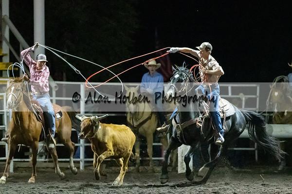 Mixed team roping