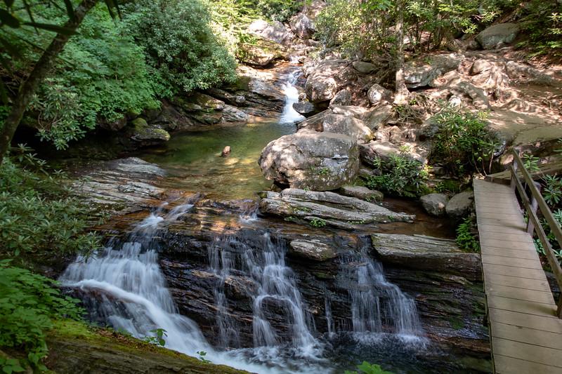 Mountains-to-Sea Trail @ Skinny Dip Falls -- 4,350'