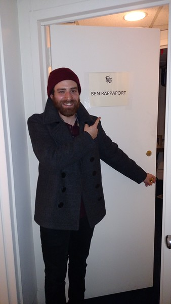 "Ben's ""Fiddler"" dressing room."