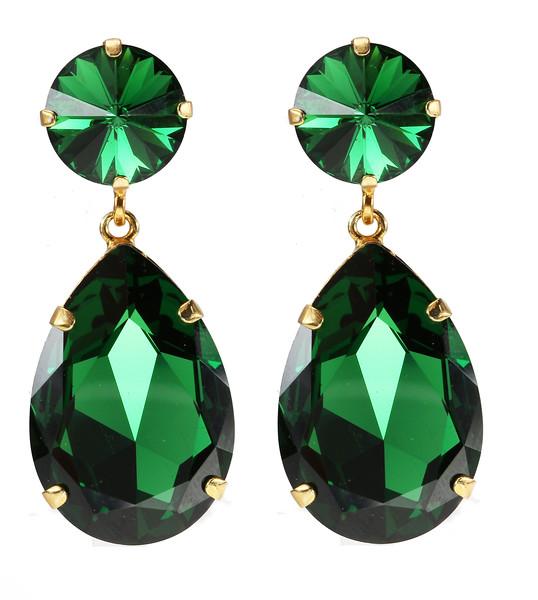 Perfect Drop Earrings / Dark Moss Green