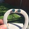 8.41ctw Blue Zircon Asscher Cut Bezel Earrings 10