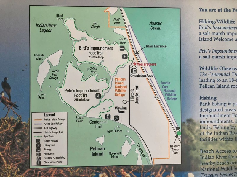 Pelican Island NWR Trail Map