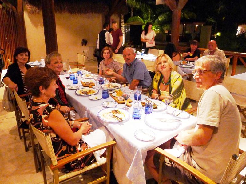 At Oceana restaurant