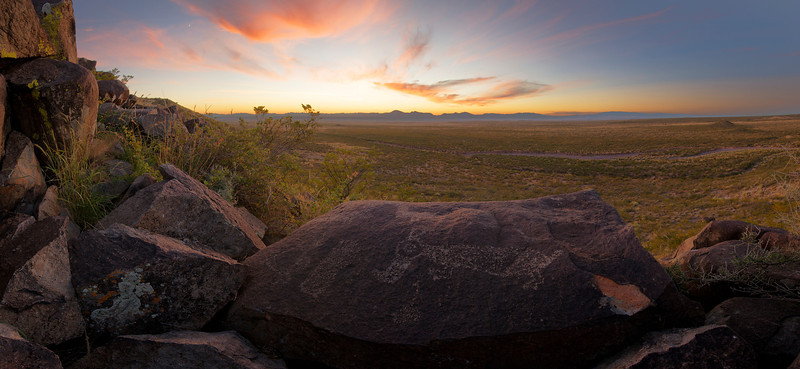 Three Rivers Petroglyph Sunset