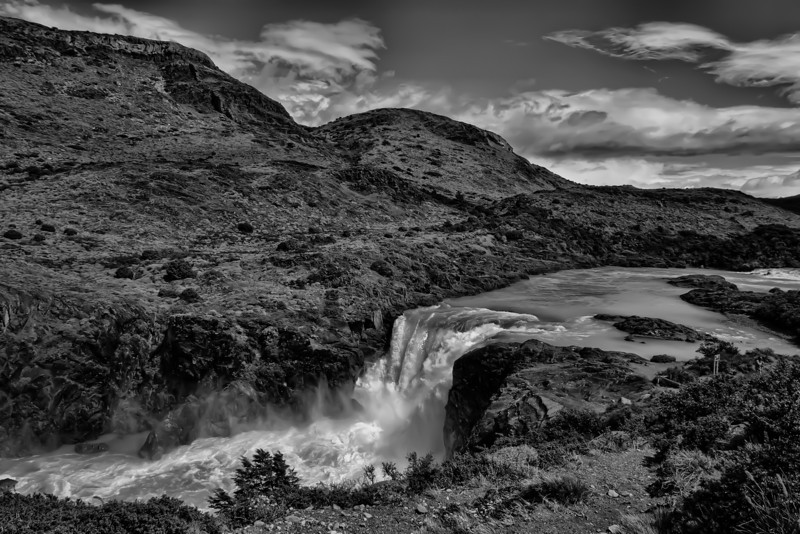 Falls near Torres Del Paine, Chile.