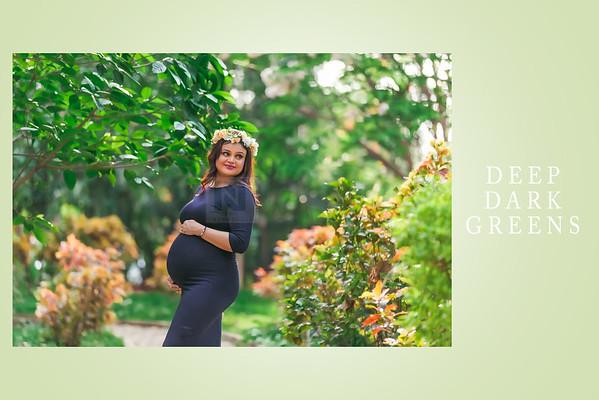 Maternity photography creative tone editing