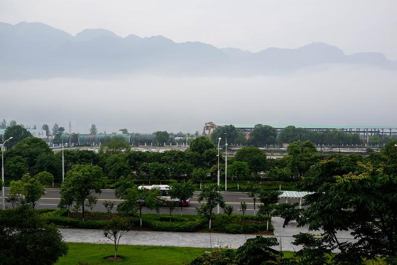 Yangtze River Mist at Three Gorges Dam