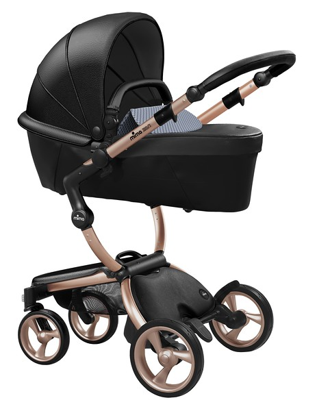 Mima_Xari_Product_Shot_Black_Flair_Rose_Gold_Chassis_Retro_Blue_Carrycot.jpg