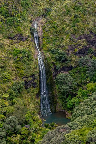 Karekare Falls vom Aussichtspunkt