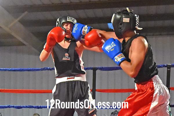 Bout 9 Carlos Figueroa, Akron BA -vs- Solomon Howell, King's Gym, 125 lbs, Junior