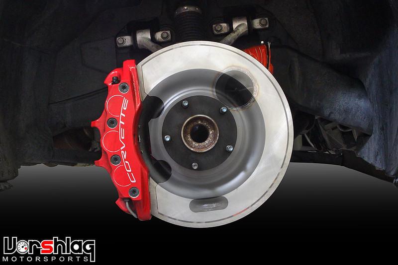 Vorshlag Stainless Steel Brake Backing Plate for C6 Z06 Corvette