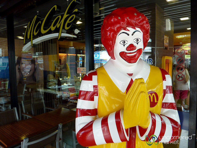 Does Your Ronald McDonald Wai Like This? Koh Samui, Thailand