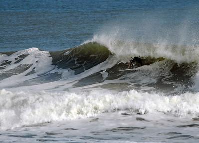 Surfing Flagler Beach (12-23-07)