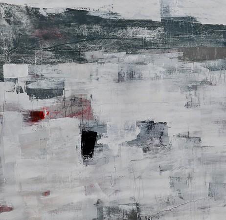 "Hawthorne Hill - Foreman, 50""x50"" acrylic painting on canvas"