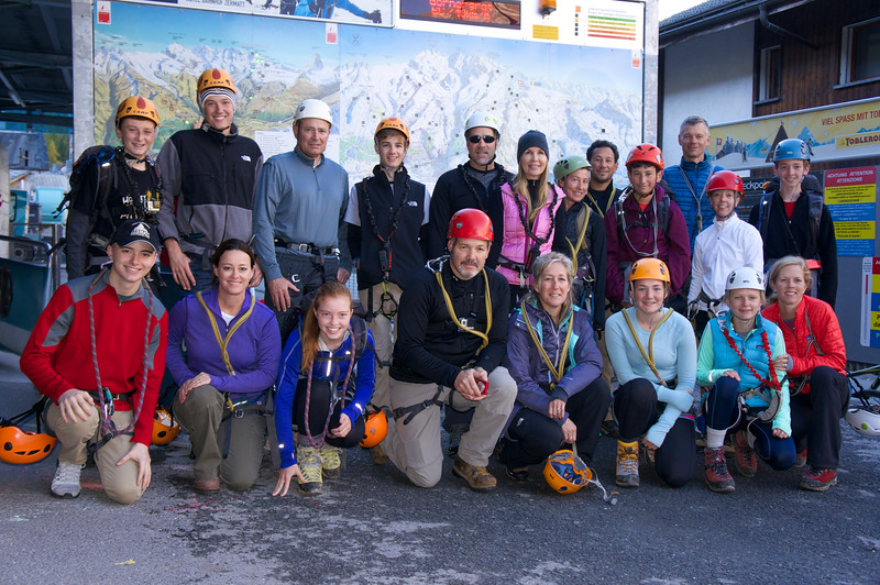 Parents' Weekend—the group of parents and students getting ready to head into the Furi Gorge on Saturday morning