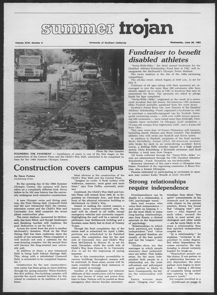 Summer Trojan, Vol. 93, No. 6, June 29, 1983