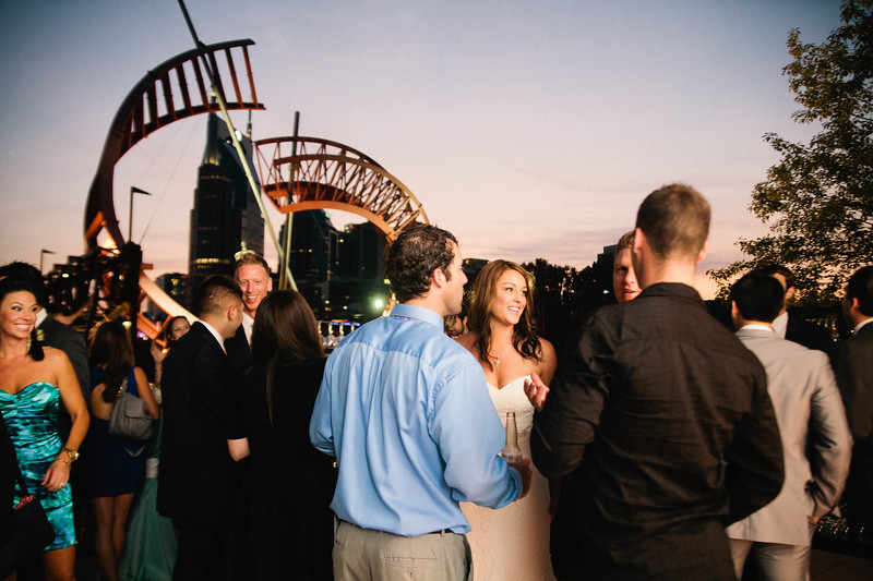sunset skyline reception