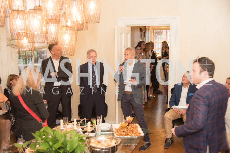 "Book Party with Ambassador Winston Lord, ""Kissinger on Kissinger"", and Jim Sciutto, ""The Shadow War"", at the home of Juleanna Glover and Christopher Reiter.  Summer 2019, Photo by Ben Droz."