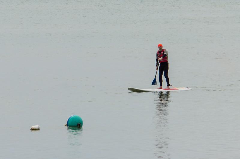 Joel on paddle board