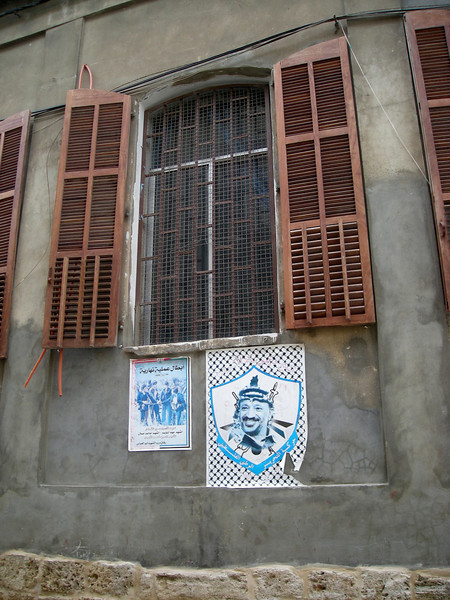 Palestinian posters on walls in the old city, Sidon