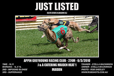 Appin Greyhounds - 6th March 2010