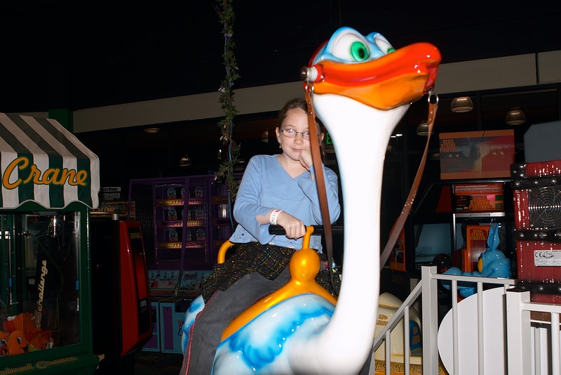 Natalia finds the ostrich ride disappointing