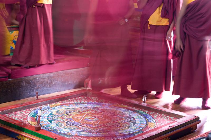 Sand Mandala at Chiwong Monastery.