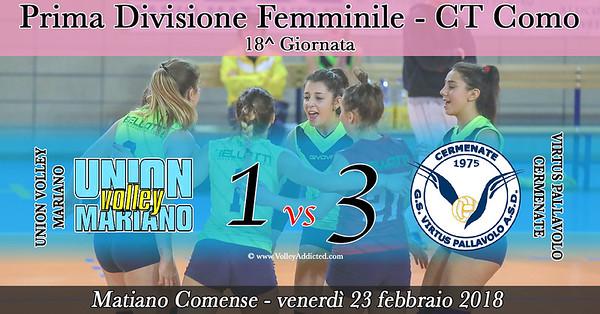 CO-1Df: Union Volley - Virtus Cermenate