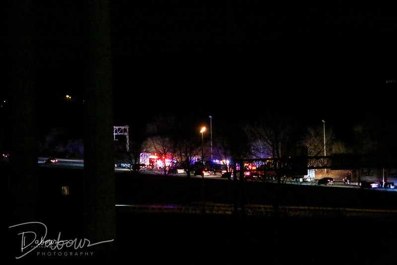 A one vehicle MVA with ejection was reported on 78 East on Sunday evening around 10 pm near MM 4. Photo by Dave Dabour