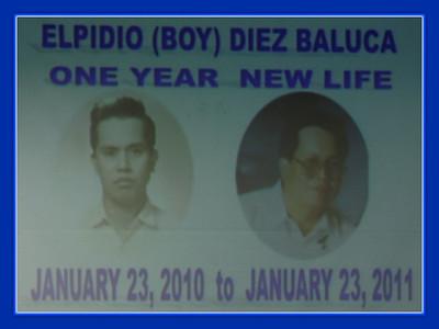 Elpidio (Boy) Diez Baluca - One Year New Life