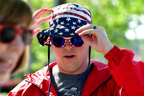 5/25/2019 Mike Orazzi | Staff Jon Wlazlowski during the annual Memorial Day Parade on Saturday along Farmington Avenue.