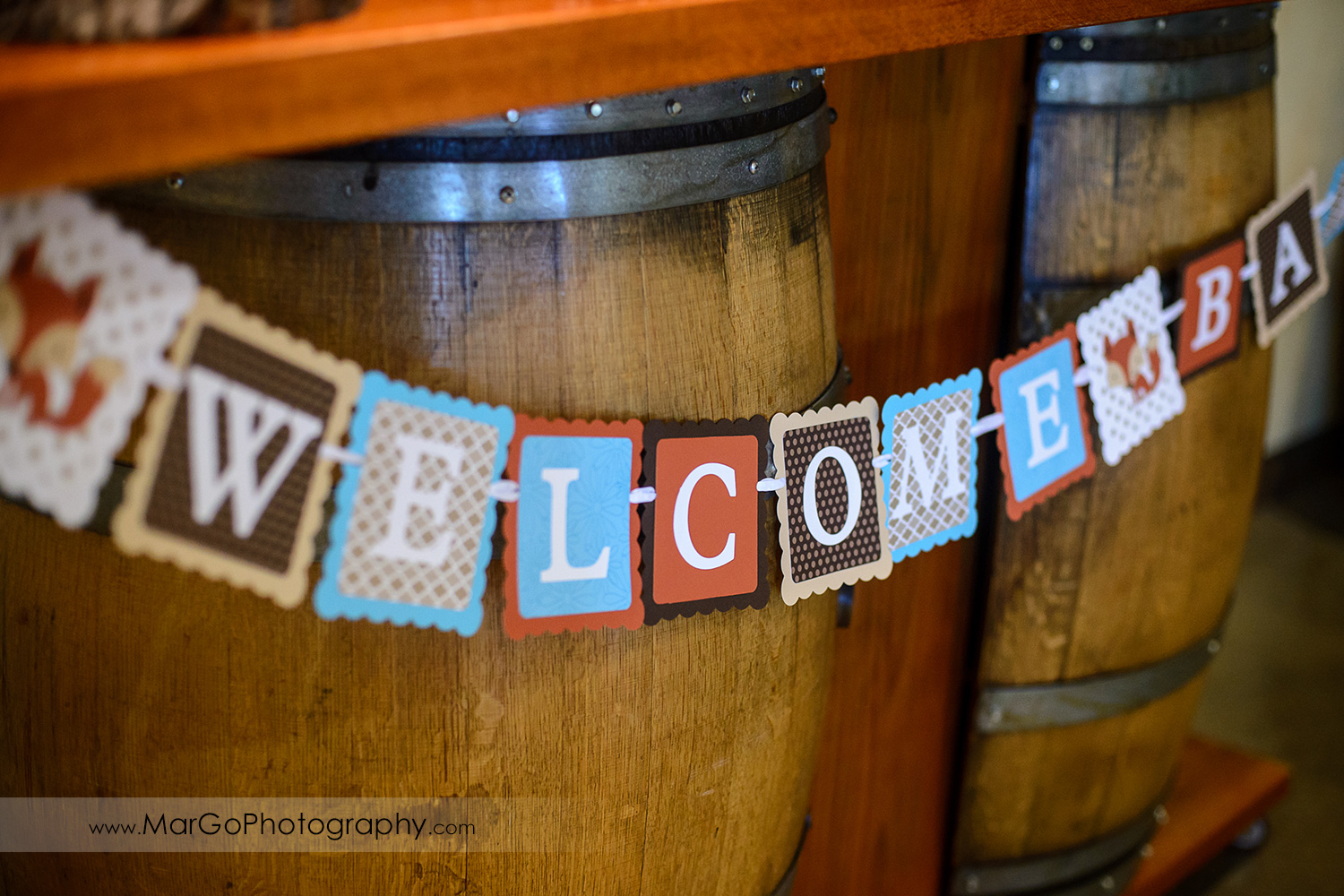 welcome baby table decor, Windmill Ridge Winery