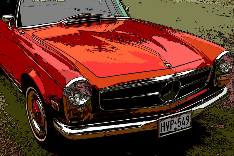 Another cool car at the car show in Carmel, California - notice the license plate from Texas!