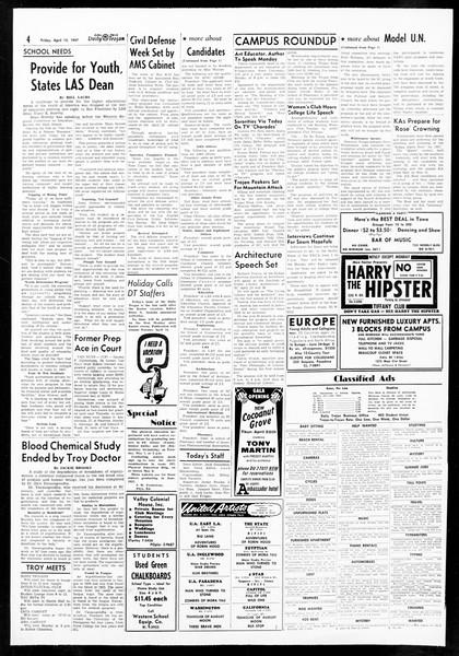 Daily Trojan, Vol. 48, No. 114, April 12, 1957