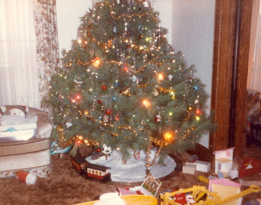 Christmas 1986 (no overlay - I didn't have a shot of this particular corner but I loved this picture so I'm sharing anyway)