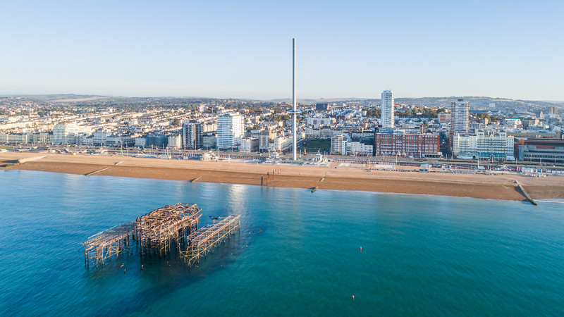 Brighton West Pier from above