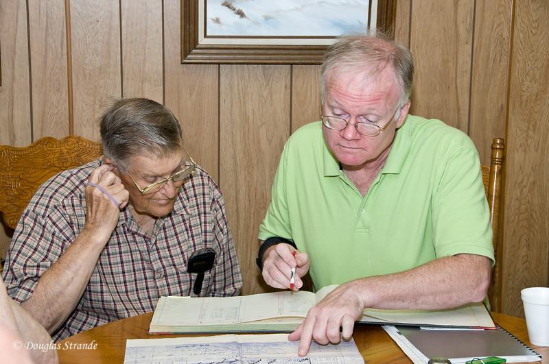 2011 Reunion, Gary works on family tree